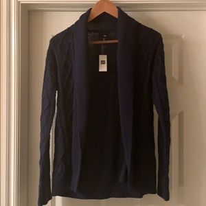 Gap 100% Cotton Shawl Collar Cable Knit Cardigan
